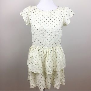 Vintage Polka Dot Cotton Peplum Dress